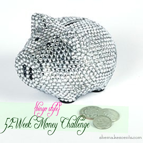 Bingo Style Money Challenge