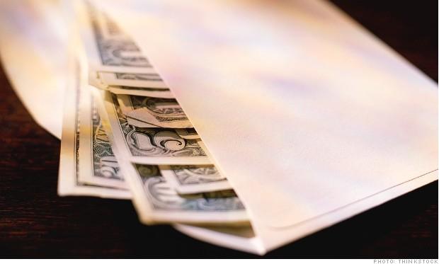 Currency in envelope