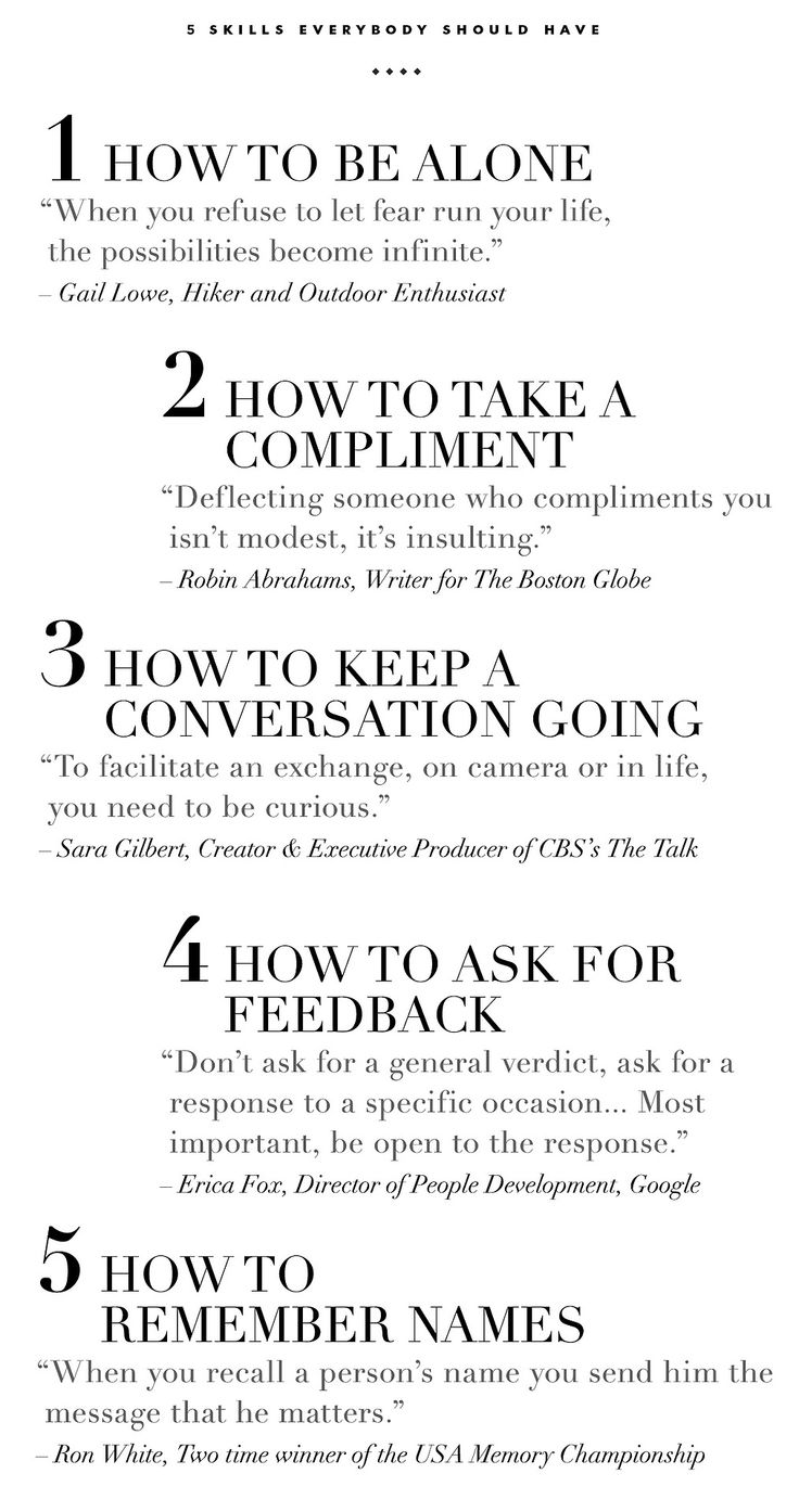 5 Skills Every Person Should Have