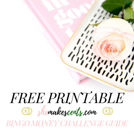 Free Printable- 52 Week BINGO Money Challenge Guide from top personal finance blogger, Danielle YB Vason, of She Makes Cents