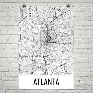 vMap Art- City Atlanta from She Makes Cents