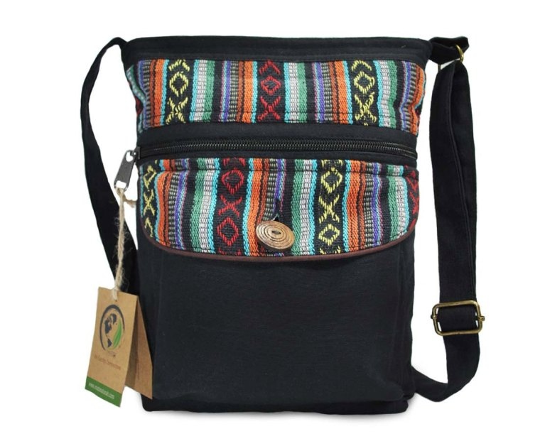 Product Review from She Makes Cents: Mato Boho Black Cross body Purse with Bohemian Tribal Aztec Pattern