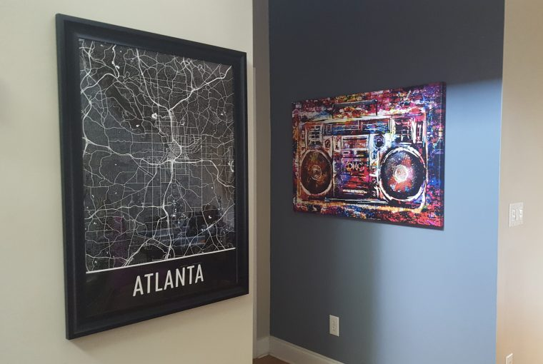 She Makes Cents- Modern Atlanta City Map Print