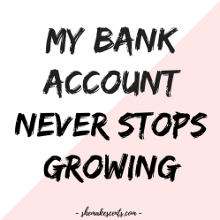 Money Affirmations to Manifest Abundance from Personal Finance Blog for Women, She Makes Cents   Law of Attraction