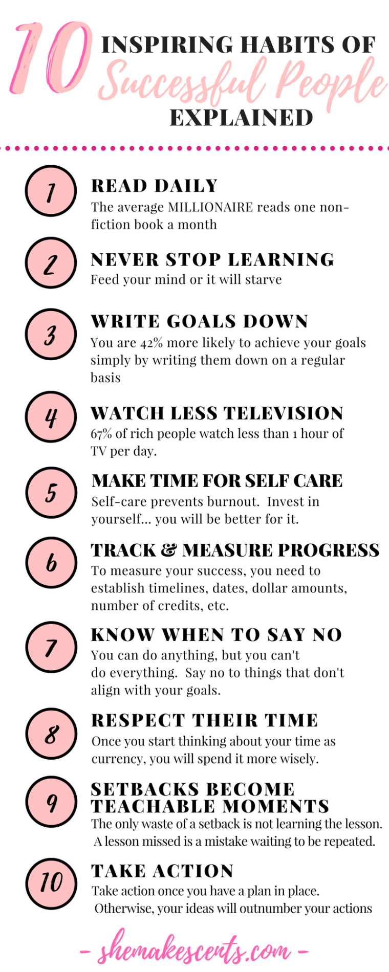 Inspiring Habits of Successful People- from Top Atlanta Blogger, Danielle YB Vason of She Makes Cents
