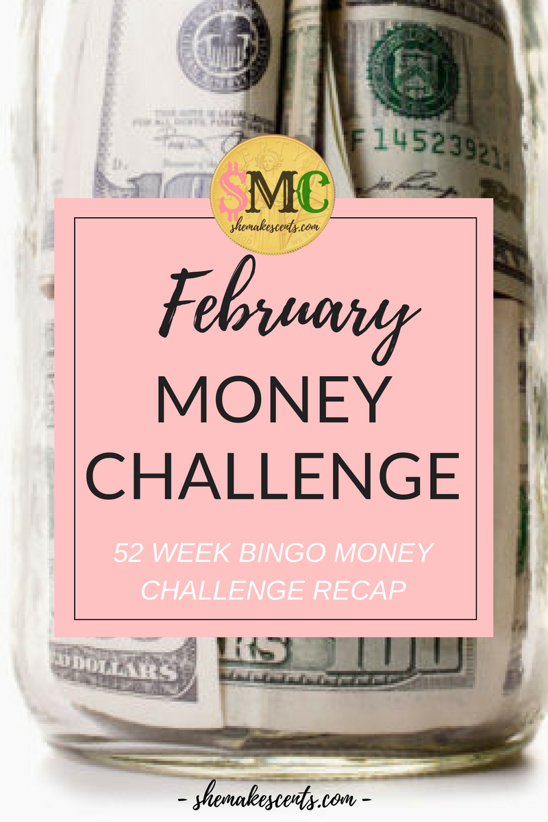 How To Save Real Money With This Money Challenge | February Savings/Income Report 52 Week Bingo Money Challenge from Money, Career, & Lifestyle Blog, She Makes Cents