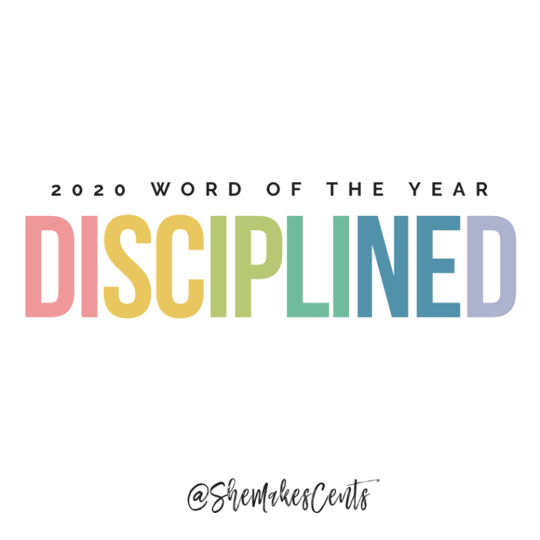 2020 Word of the Year from top Atlanta blogger, Danielle YB Vason of She Makes Cents