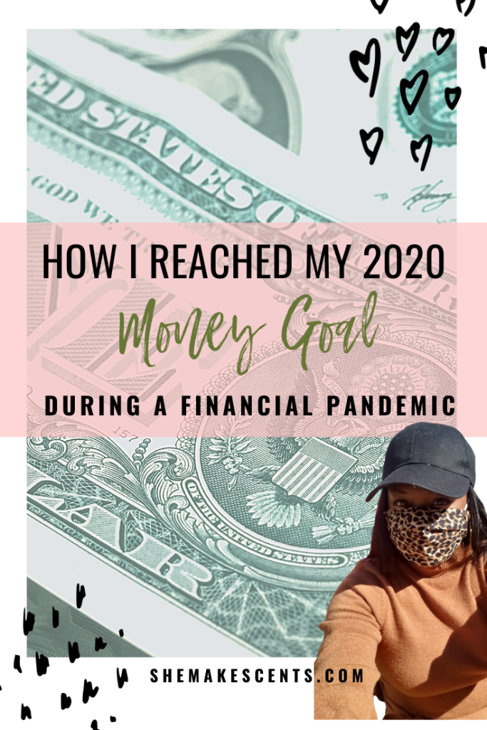 Top Atlanta financial blogger, Danielle YB Vason, shares how she reached her 2020 money goal despite the financial pandemic